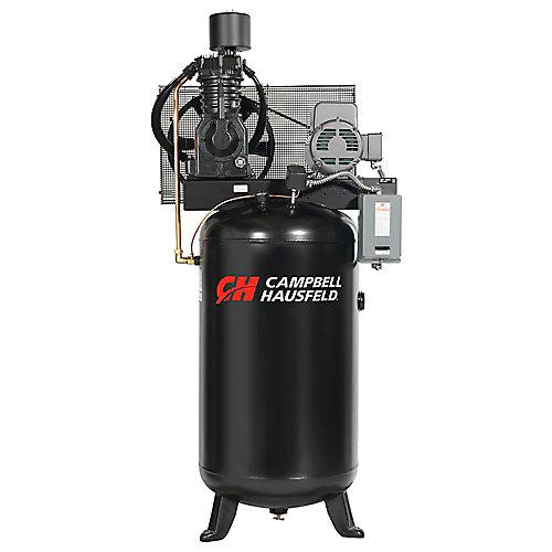 Campbell Hausfeld Compresseur d'air de 302,80 litres 25CFM 7.5HP 208-230/460V 1PH (CE7001)