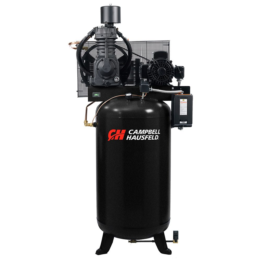 Campbell Hausfeld Air Compressor, 80 Gallon Fully Packaged 25CFM 7.5HP 208-230/460V 3PH (CE7001FP)