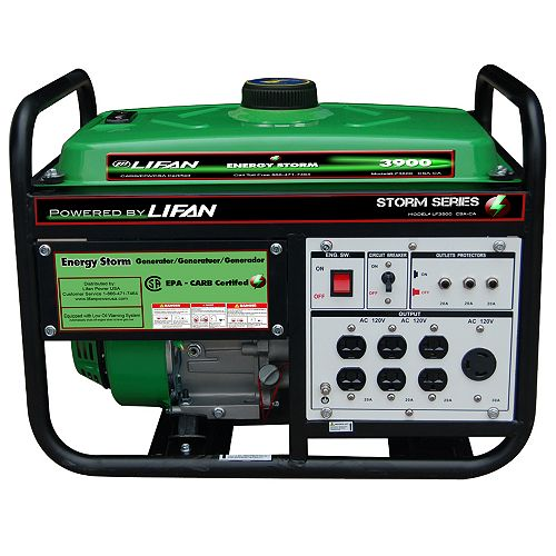 Energy Storm 3500-W 196cc 6.5 MHP Gasoline Powered Portable Generator