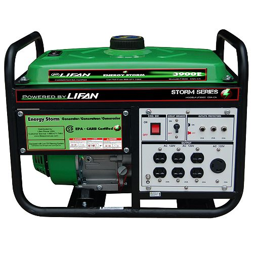 Energy Storm 3500-W 196cc 6.5 MHP Gasoline Powered Electric Start Portable Generator