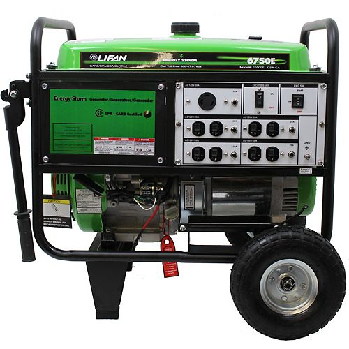Energy Storm 6700-W 389cc 13 MHP Gasoline Powered Electric Start Portable Generator