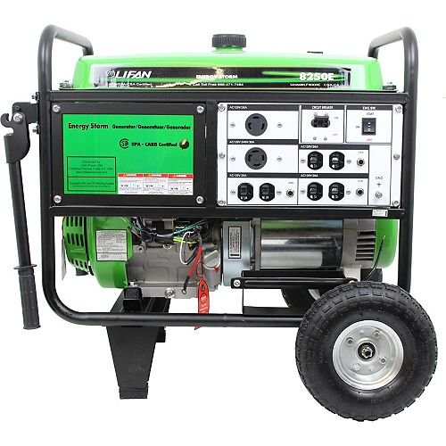 Energy Storm 8,250-W 420cc 15 MHP Gasoline Powered Electric Start Portable Generator