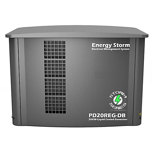 20,000W Propane/Natural Gas Liquid Cooled 4-Cylinder Automotive Grade Whole House Standby Generator
