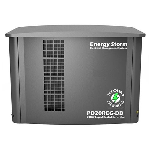 20,000W 3 Phase 120/208 Propane/Natural Gas Liquid Cooled 4-Cylinder Whole House Standby Generator