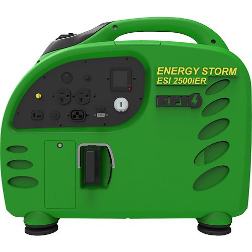 Energy Storm 2500W 125cc Gasoline Powered Electric/Remote Start Digital Inverter Generator