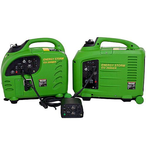Energy Storm 2200/2800W Gasoline Remote Start Inverter Generator with Duopower Parallel Connection