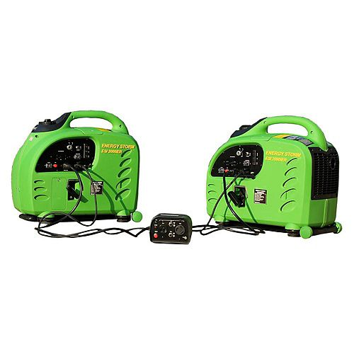 Energy Storm 2200W Gas Powered Remote Start Inverter Generator with Duopower Parallel Connection