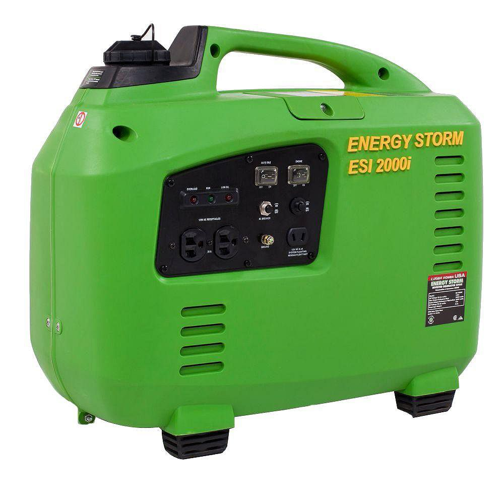 LIFAN Energy Storm 2,000W 105cc Gasoline Powered Inverter Generator- 50 State Compliant