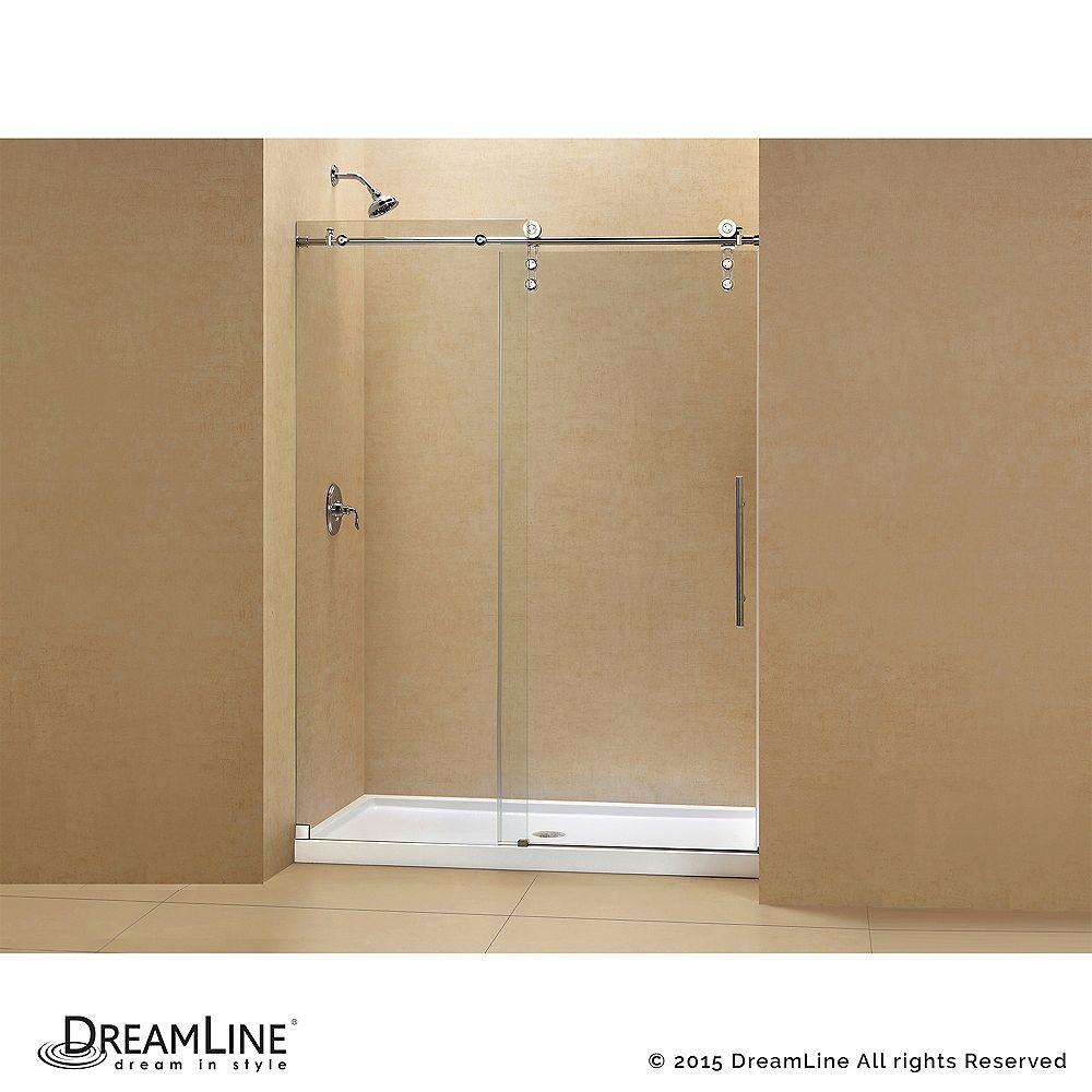 DreamLine DreamLine Enigma-Z 122 x 200 cm Porte de douche Sans cadre fini Acier Inoxydable Brossé et Base