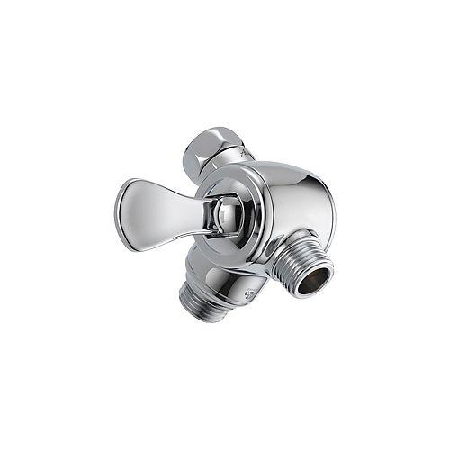 3-Way Shower Arm Diverter For Hand Shower, Chrome