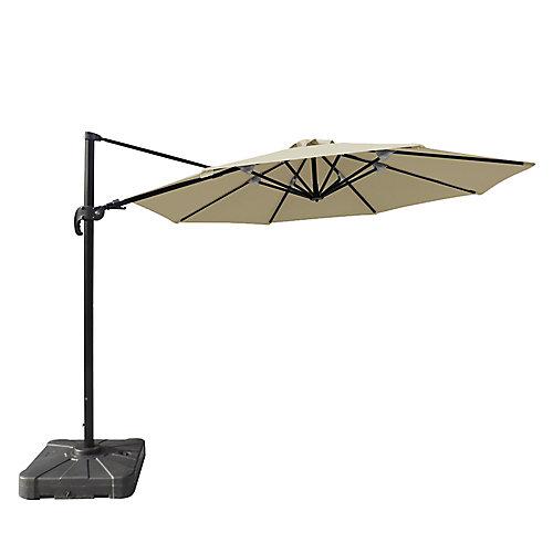 Freeport parasol en porte-à-faux octogonal de 3,4 m (11 pi) en acrylique Sunbrella beige