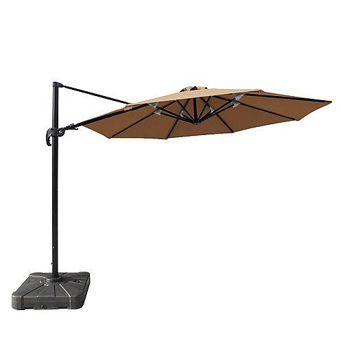 Freeport 11 ft. Octagonal Cantilever Sunbrella Acrylic Patio Umbrella in Stone