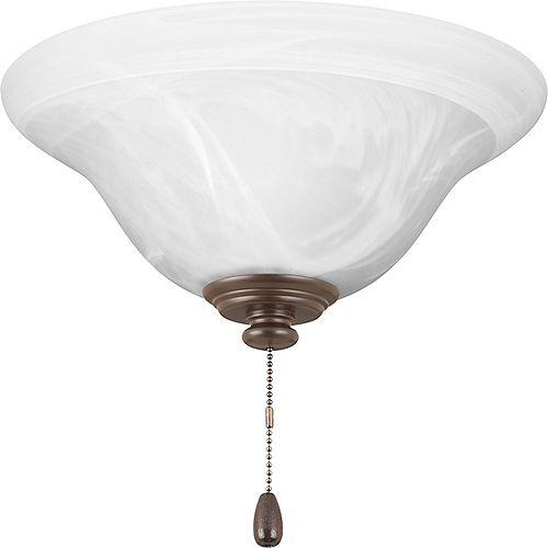 Collection AirPro – Lumière de ventilateur de plafond à une ampoule à DEL, bronze antique