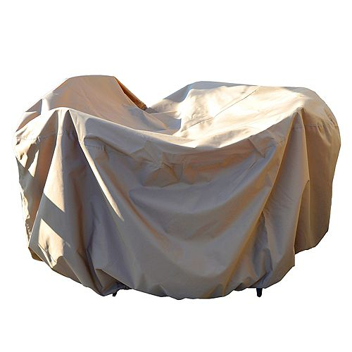All-Weather Protective Cover for 54-inch Round Table & Chairs with Umbrella Hole