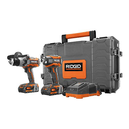 RIDGID GEN5X 18-Volt Lithium-Ion Cordless 1/2-inch Hammer Drill/Driver & 1/4-inch Impact Driver Combo Kit