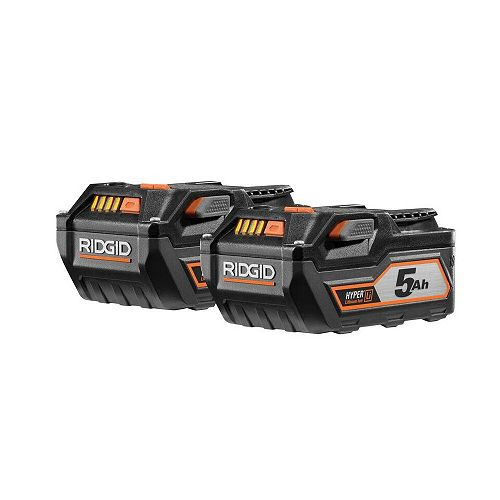 18-Volt Lithium-Ion 5.0Ah Battery (2-Pack)