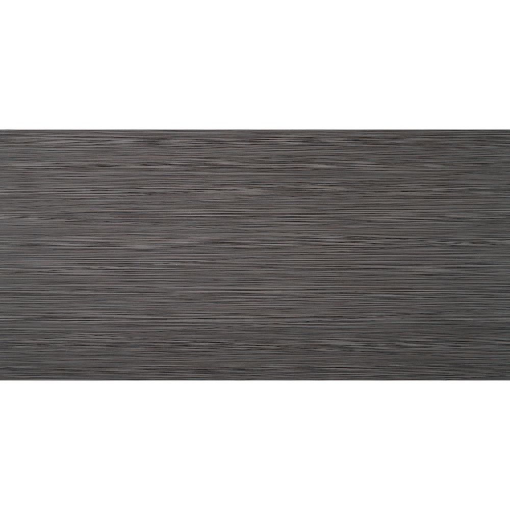 MSI Stone ULC Carreaux de porcelaine vernissée pour planchers et murs Focus Graphite de 12 po x 24 po (16 pi ca/boîte)