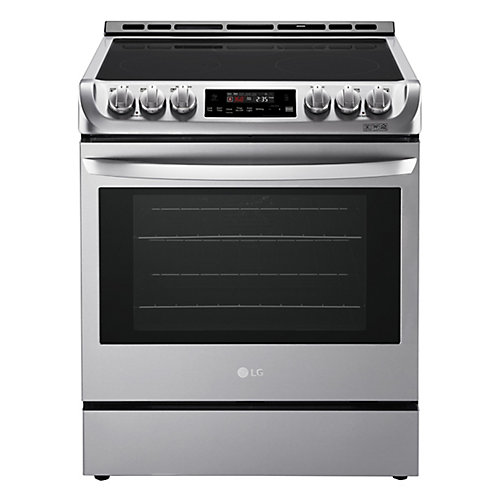 6.3 cu. ft. Electric Slide-In Range with ProBake Convection and EasyClean in Stainless Steel