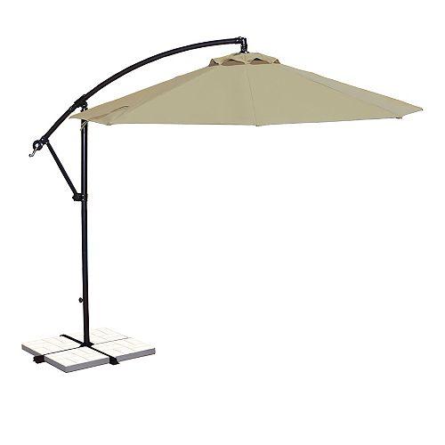 Santiago 10 ft. Octagonal Cantilever Sunbrella Acrylic Patio Umbrella in Beige