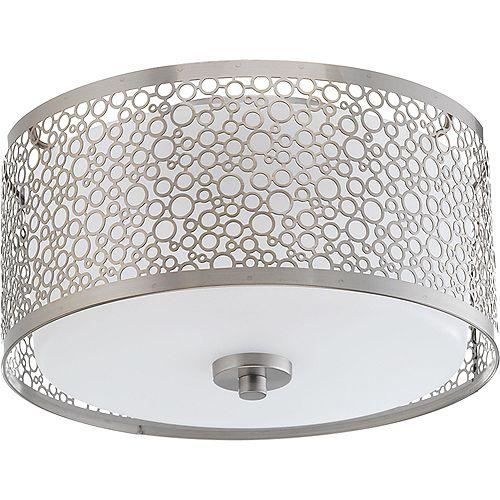 Collection Mingle  Plafonnier à ampoule à DEL unique, nickel brossé