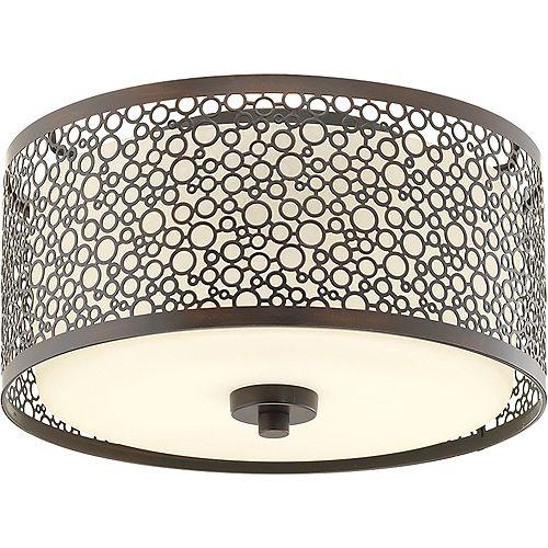 Collection Mingle – Plafonnier à ampoule à DEL unique, bronze antique