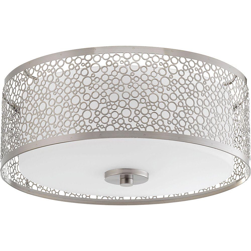 Progress Lighting Collection Mingle – Plafonnier à ampoule à DEL unique, nickel brossé