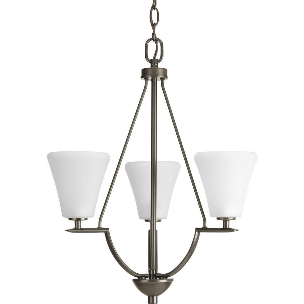 Progress Lighting Collection Bravo – Luminaire suspendu pour entrée à troisampoules, bronze antique