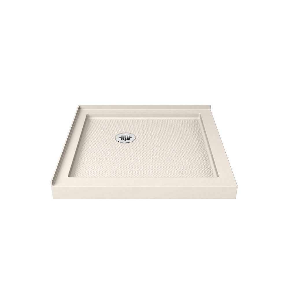 DreamLine SlimLine 36-inch x 36-inch Double Threshold Shower Base in Biscuit