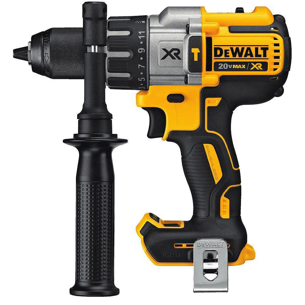 DEWALT 20V MAX XR Lithium-Ion Cordless Brushless 1/2-inch Premium Hammer Drill (Tool-Only)