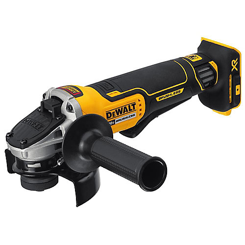 20V MAX XR Li-Ion Cordless Brushless 4-1/2-inch Paddle Switch Small Angle Grinder w/ Kickback Brake (Tool-Only)