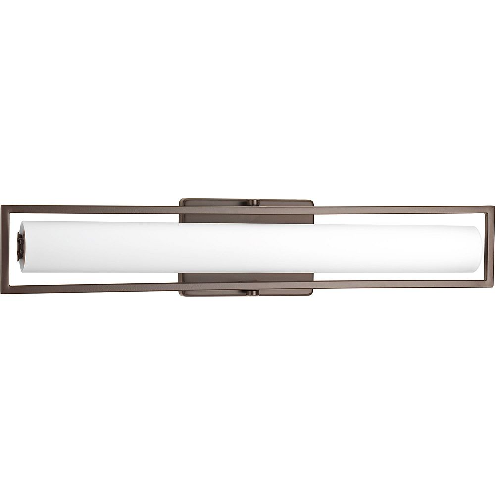 Progress Lighting Frame Collection 1-light Architectural Bronze LED Bath Light