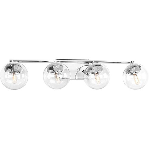 Mod Collection 4-Light Polished Chrome Vanity Light Fixture