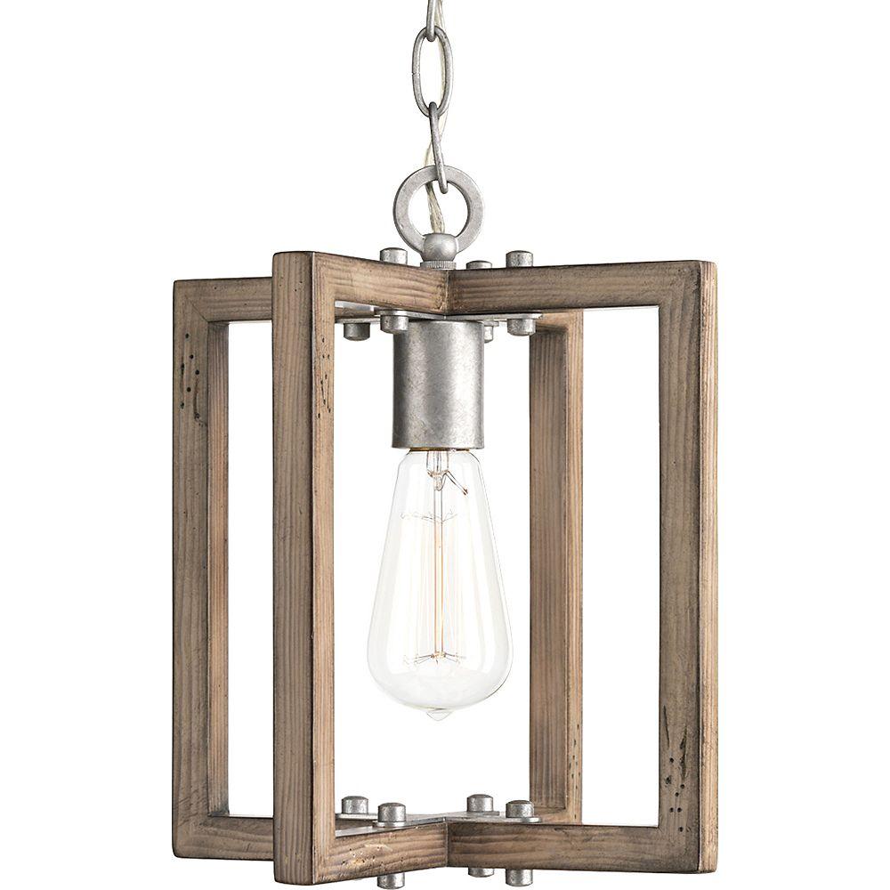 Progress Lighting Turnbury Collection 1-light Galvanized Mini-Pendant Light Fixture