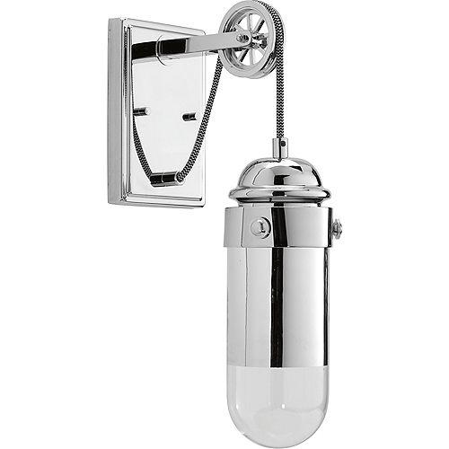 Collection Beaker – Applique murale à ampoule à DEL unique, chrome poli
