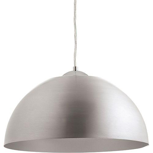 Collection Dome – Luminaire suspendu à ampoule à DEL unique, aluminium satiné
