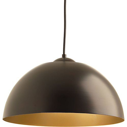 Collection Dome – Luminaire suspendu à ampoule DEL unique, bronze antique