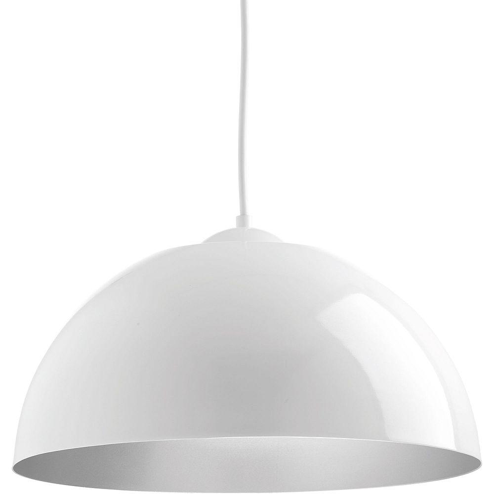 Progress Lighting Dome Collection 1-light White LED Pendant