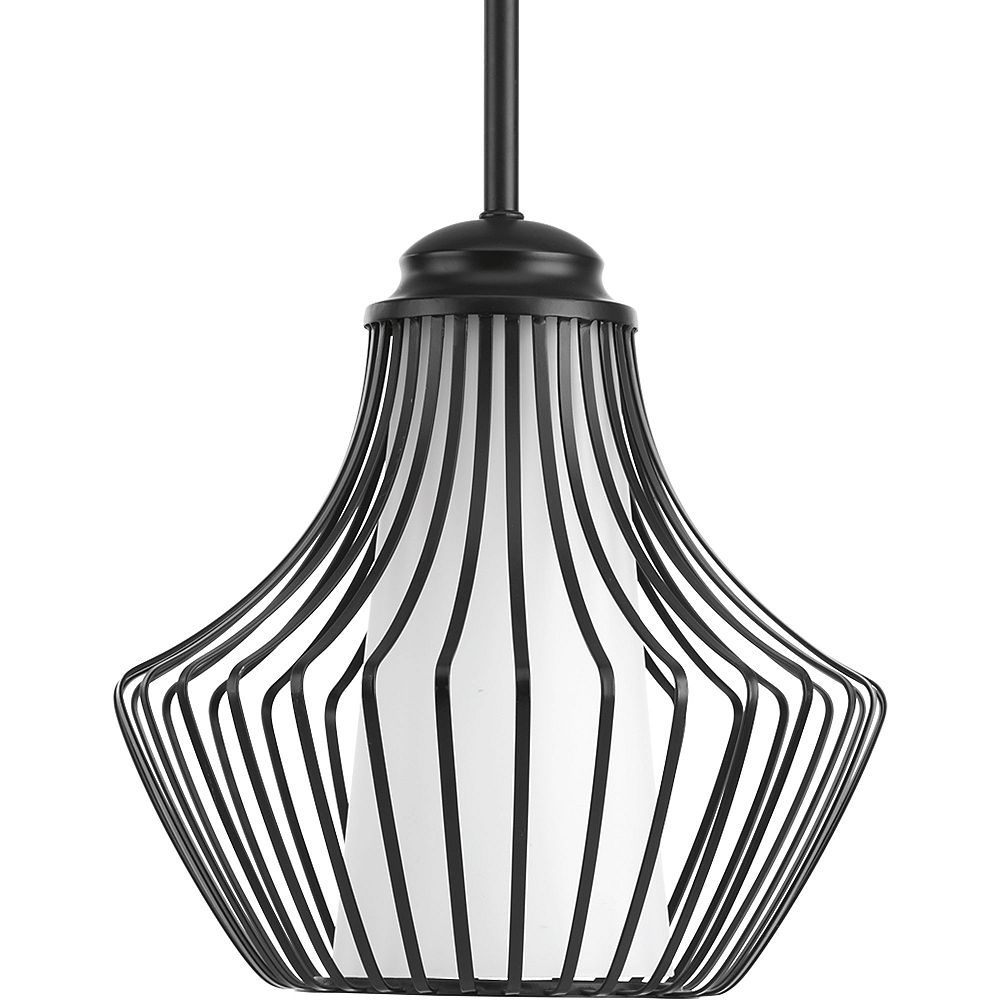 Progress Lighting Collection Finn  Luminaire suspendu à ampoule unique, noir