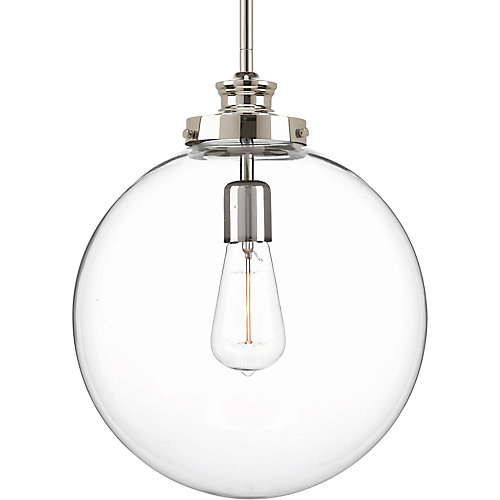 Penn Collection 1-light Polished Nickel Pendant