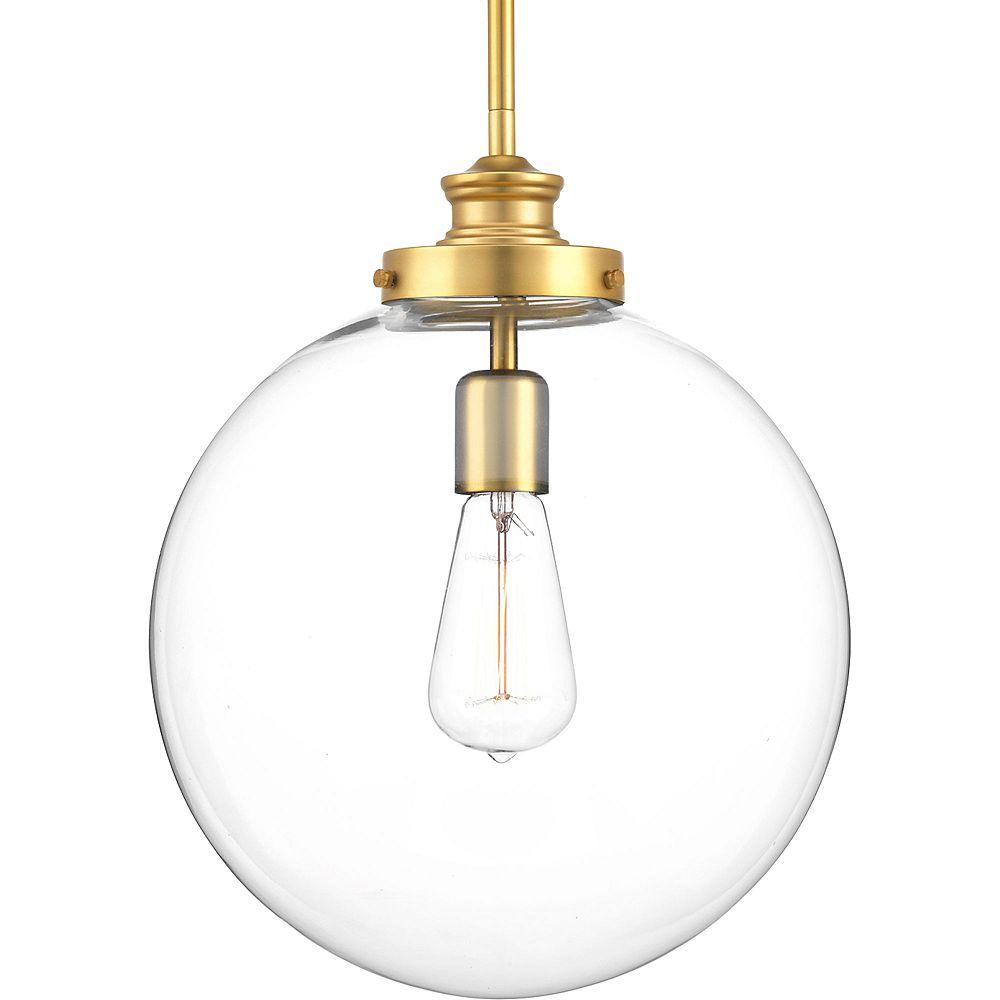 Progress Lighting Collection Penn – Luminaire suspendu à ampoule unique, laiton naturel