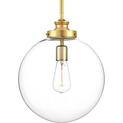 Penn Collection 1-light Natural Brass Pendant