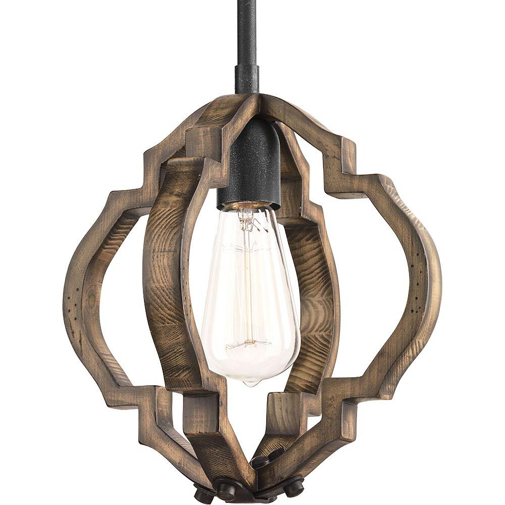Progress Lighting Collection Spicewood  Mini-luminaire suspendu à ampoule unique, fer doré