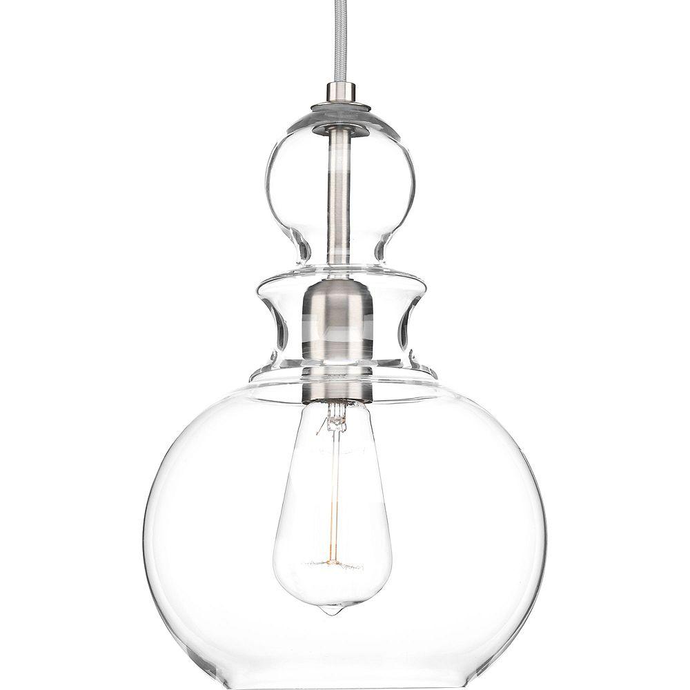 Progress Lighting Collection Staunton  Luminaire suspendu à ampoule unique, nickel brossé