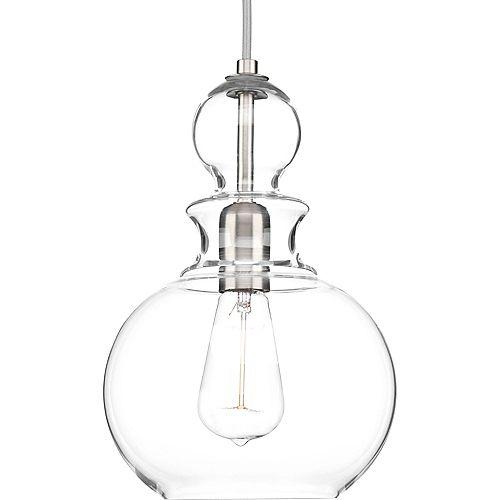 Collection Staunton – Luminaire suspendu à ampoule unique, nickel brossé