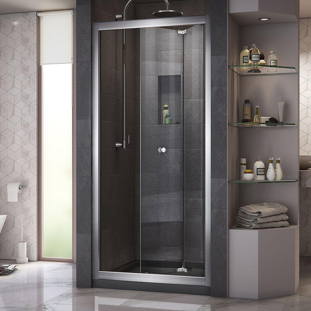 DreamLine Butterfly 30-inch to 31-1/2-inch x 72-inch Framed Bi-Fold Shower Door in Chrome