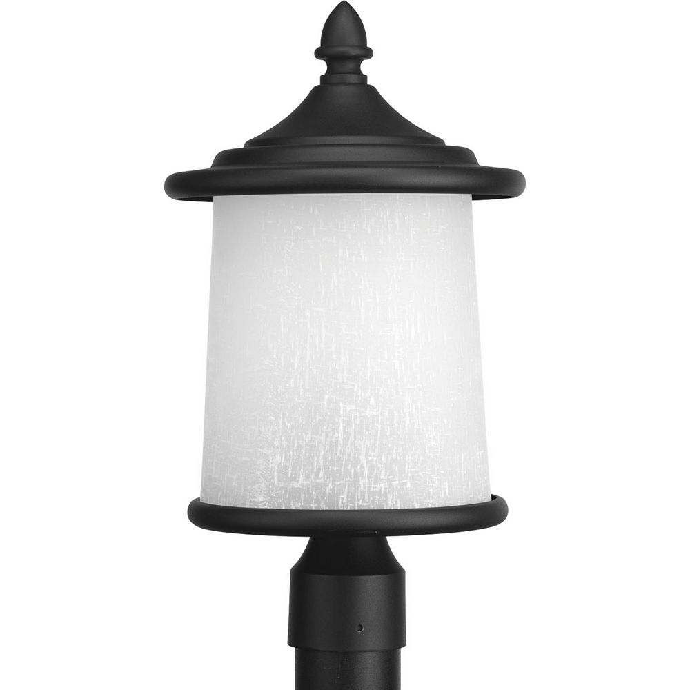 Progress Lighting Essential Collection 3-light Black Post Lantern
