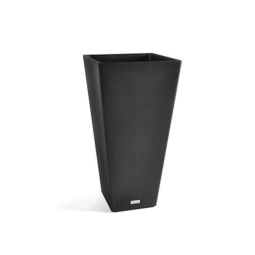 Jardinière, forme allongée en V, 32 po, noir