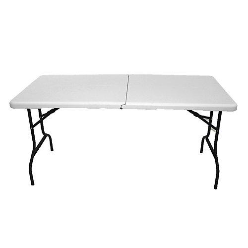 Table pliante avec roues, 5 pi