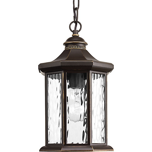 Edition Collection 1-light Antique Bronze Hanging Lantern