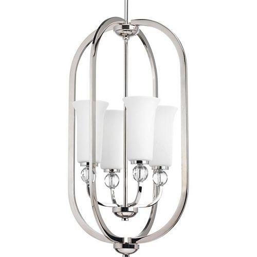 Progress Lighting Elina Collection 4-light Polished Nickel Foyer Pendant